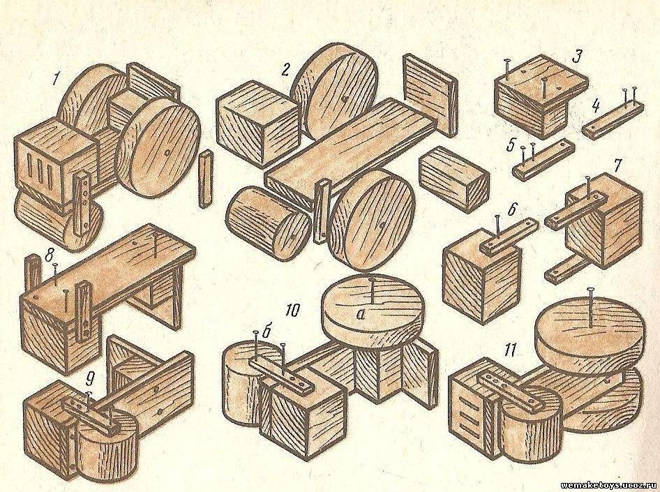 Модели из дерева своими руками