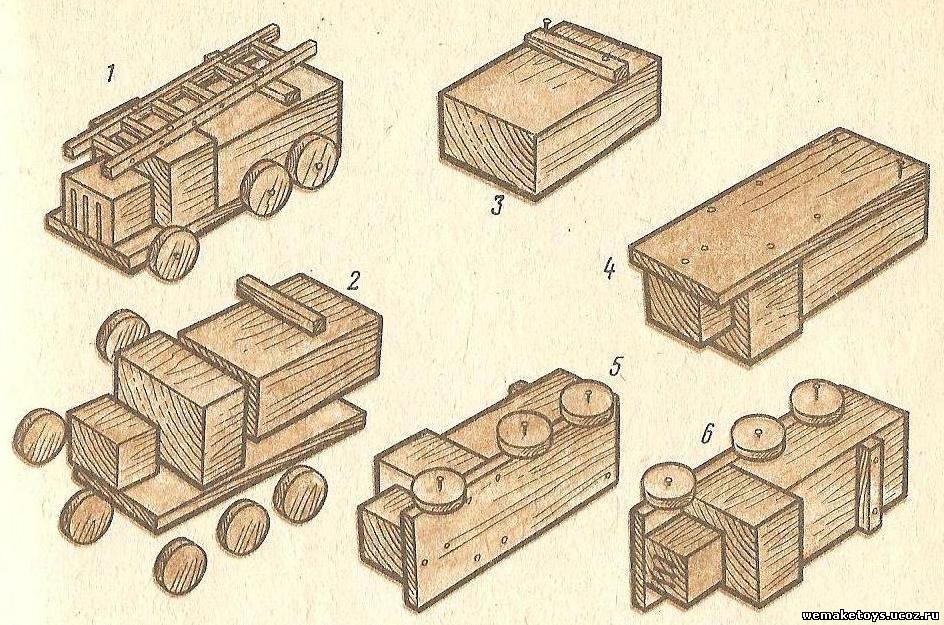 Как сделать из дерева машинку своими руками