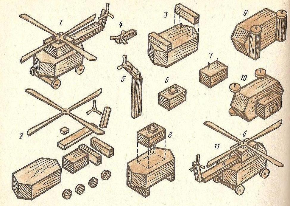 Схемы машин из дерева