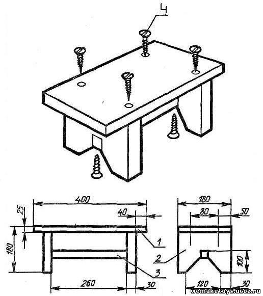 Чертежи деревянной мебели