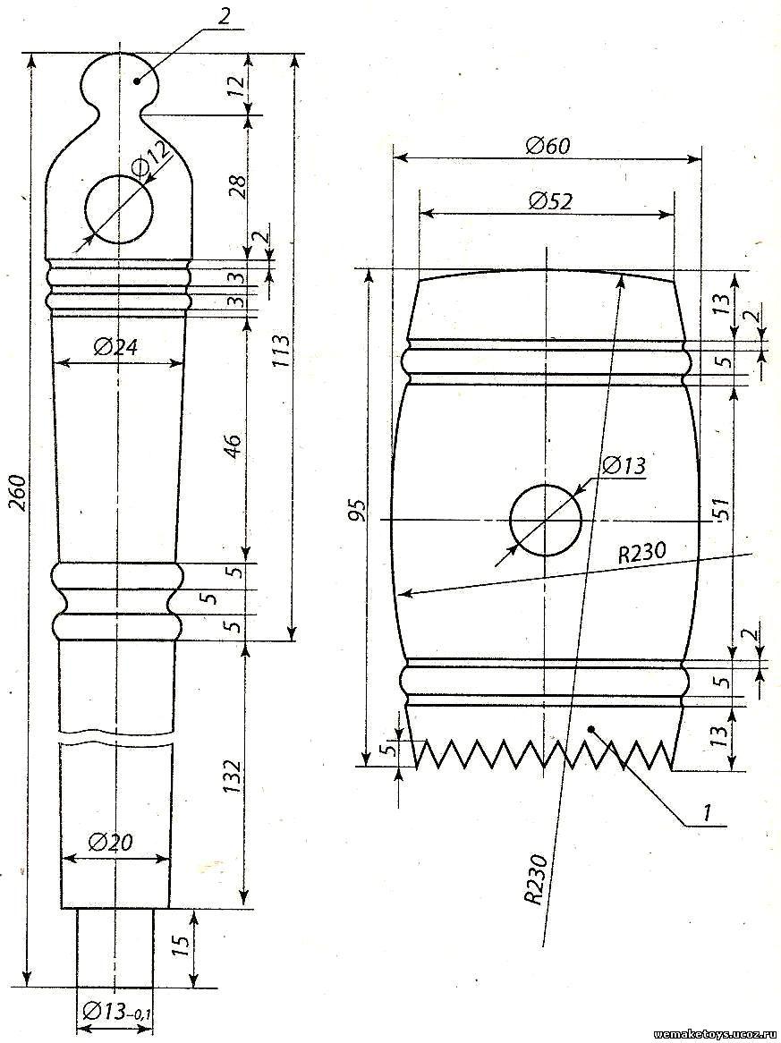 Токарные изделия из дерева чертежи