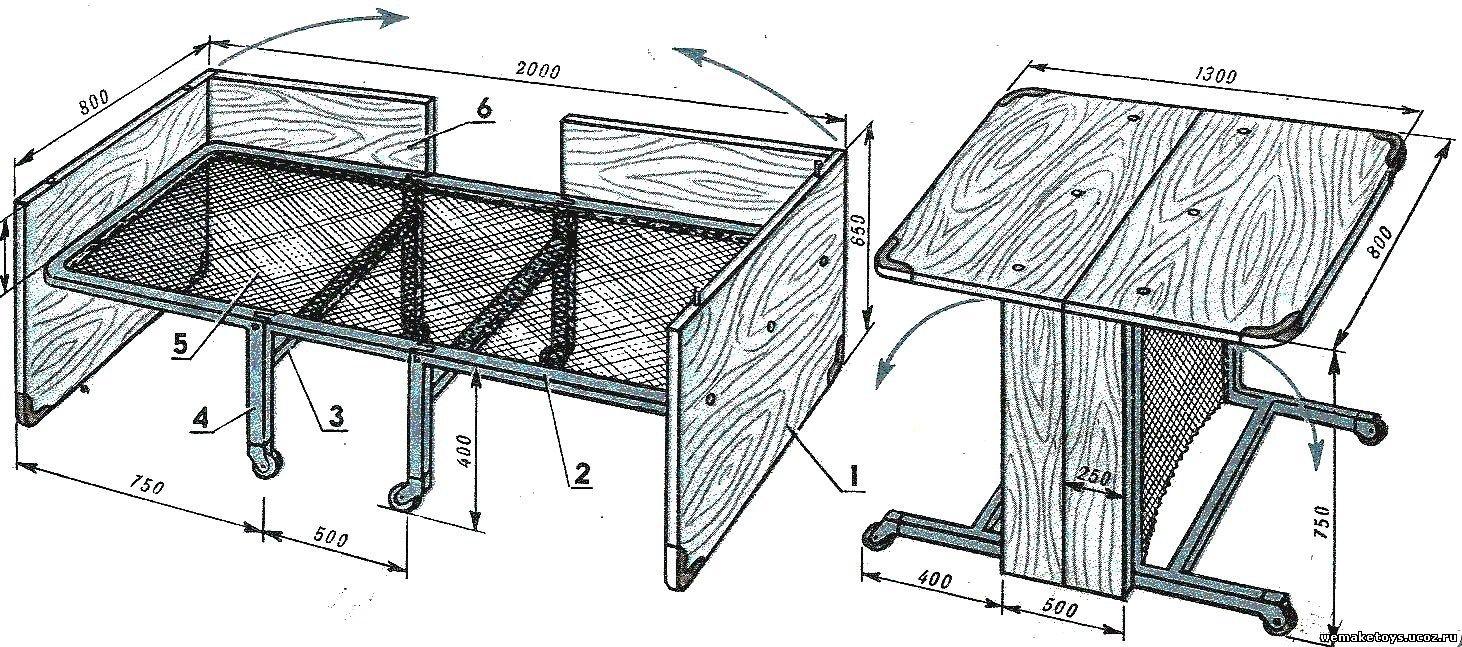 Кровать из раскладушки своими руками 625