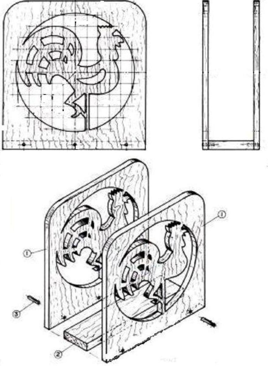 Чертеж салфетницы из фанеры своими руками чертежи 62