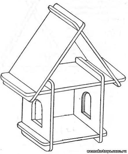 Детский домик своими руками чертежи из фанеры для дачи