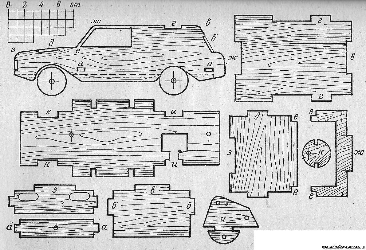 Схема дерева из фанеры