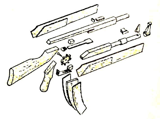 Макет рисунка оружия