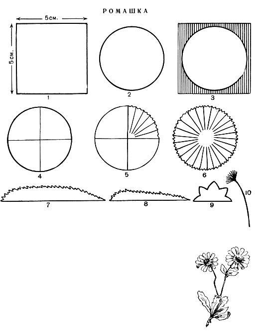 Ромашки из бумаги своими руками схемы шаблоны