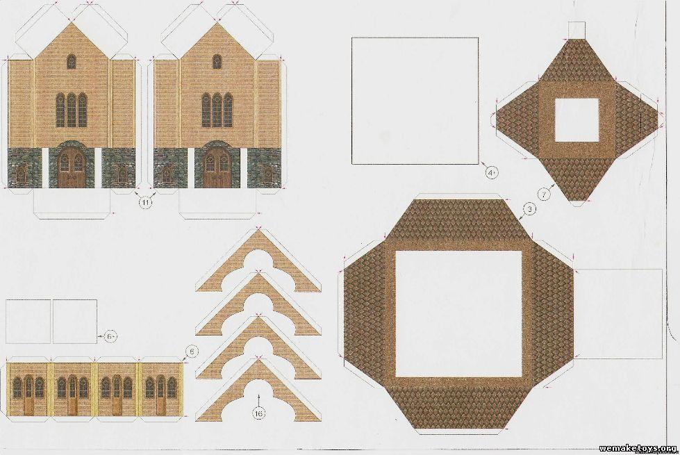 Сделать макет храма своими руками из бумаги 68