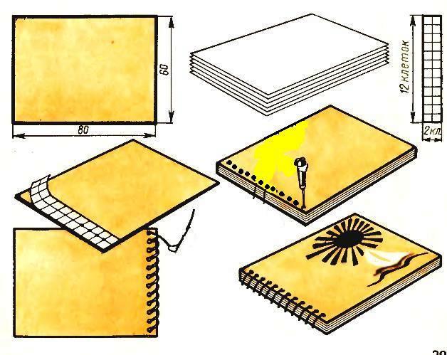 Как сделать переплет для блокнот своими руками 493