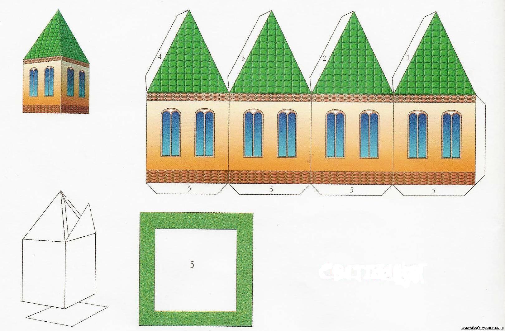 Многоэтажный дом из бумаги своими руками схема
