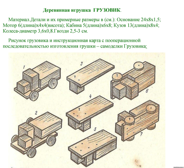 машинки из дерева схемы