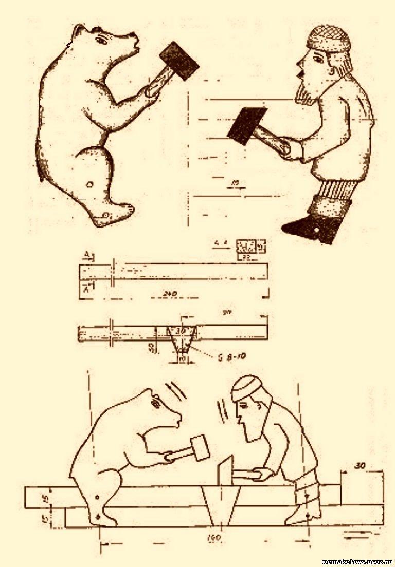 Подвижные игрушки из дерева чертежи