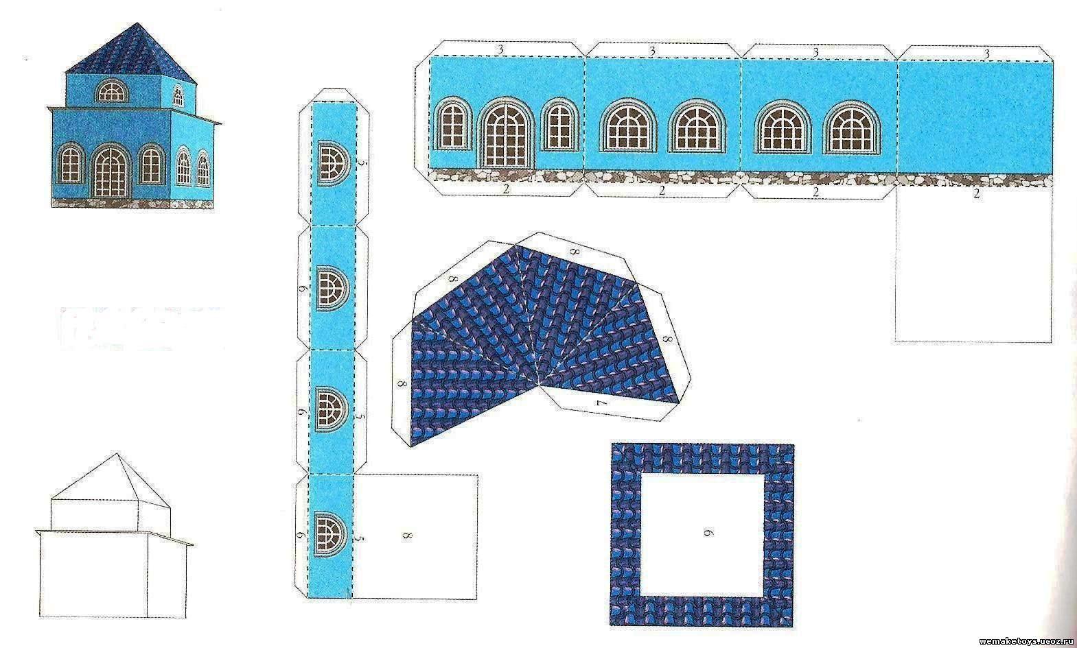 Как сделать объемный замок из бумаги фото 942